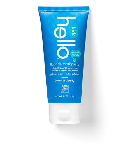 Find out product details for our natural blue raspberry toothpaste for kids.