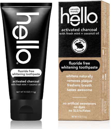 activated charcoal fluoride free whitening toothpaste