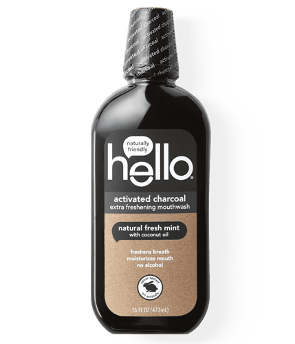Teeth Whitening Activated Charcoal Mouthwash Hello Products