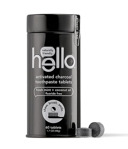 hello charcoal toothpaste tablets