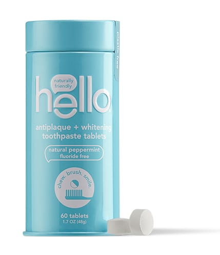 Hello Antiplaque + Whitening Toothpaste Tablets