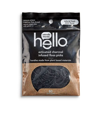 Hello Activated Charcoal Flossers