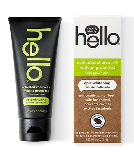 Hello Activated Charcoal + Matcha Toothpaste