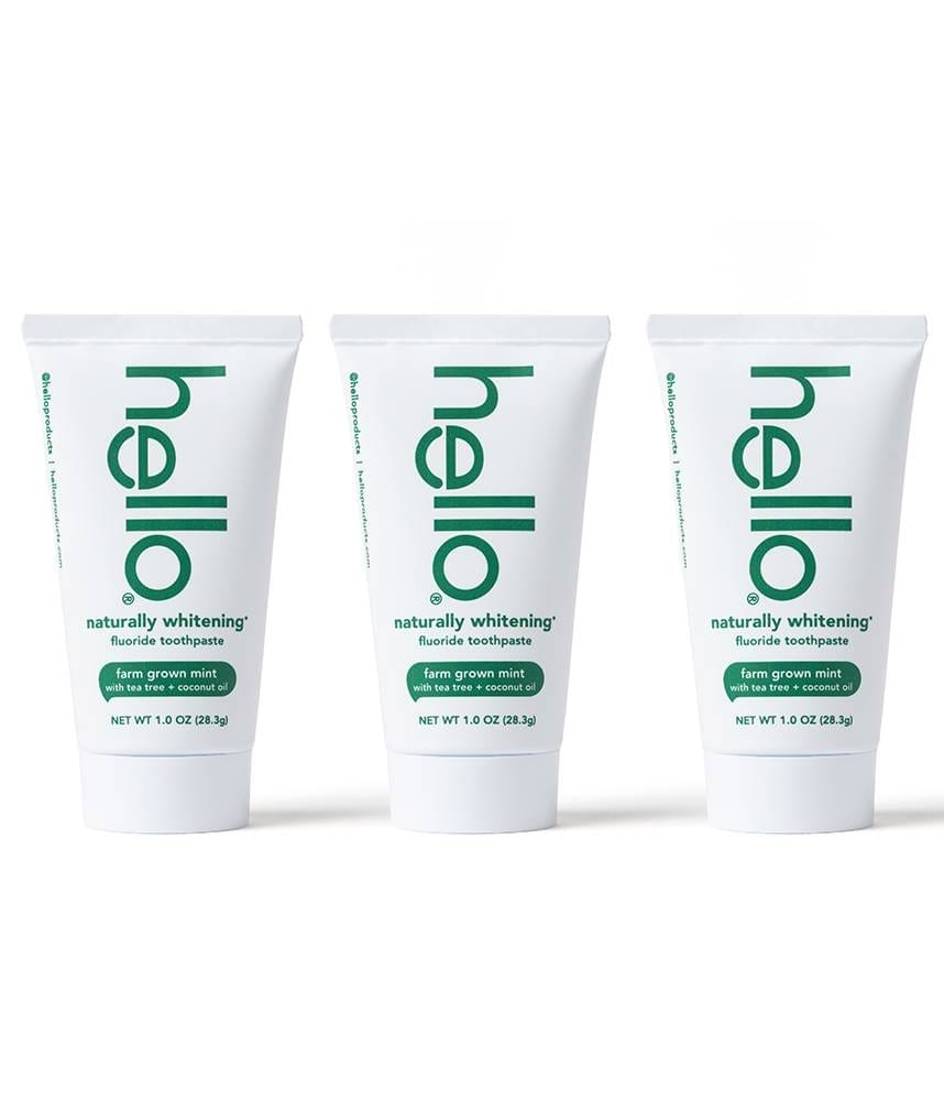 naturally whitening travel pack toothpastes