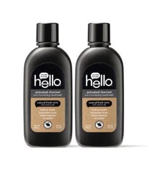hello charcoal mouthwash travel size