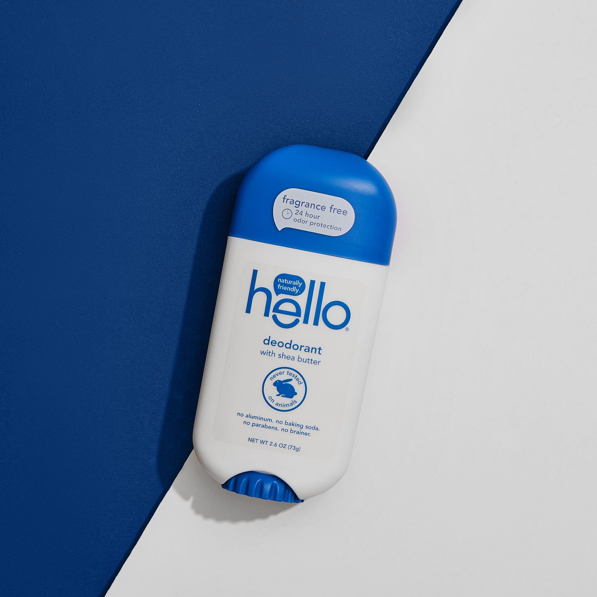 hello® fragrance free deodorant with shea butter