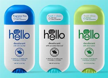 hello deodorant lineup