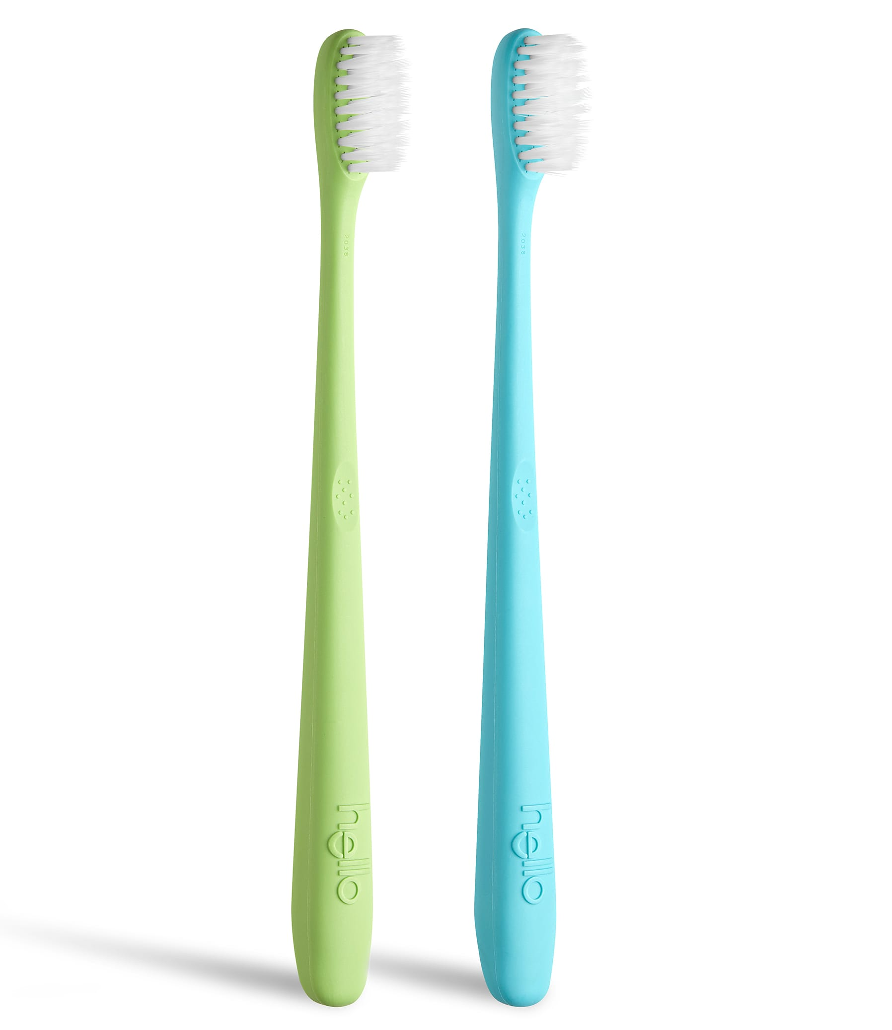 blue and green toothbrush twin pack