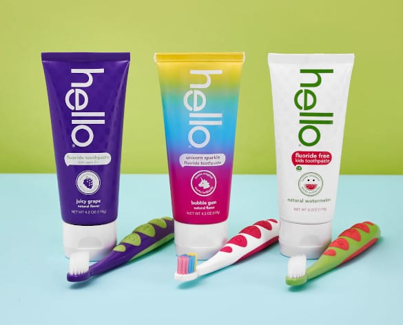 hello kids toothpaste and brushes