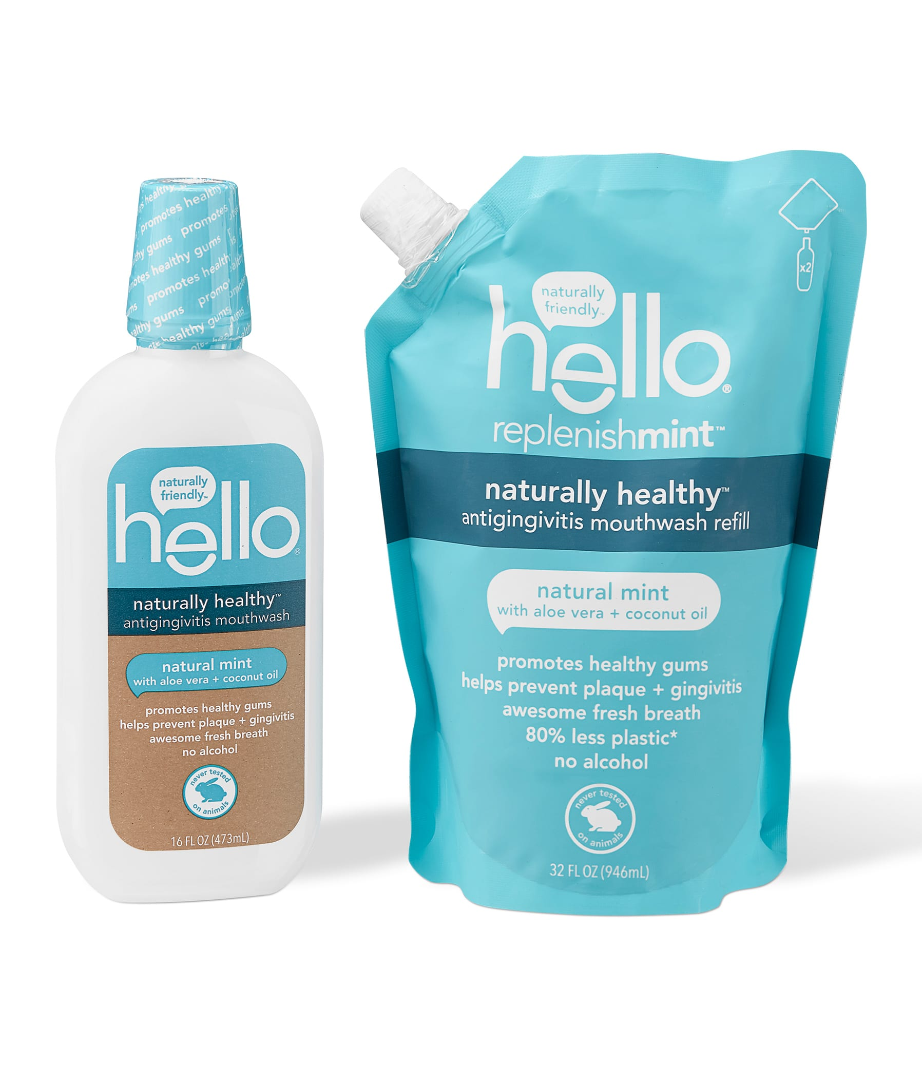 naturally healthy mouthwash kit + refill