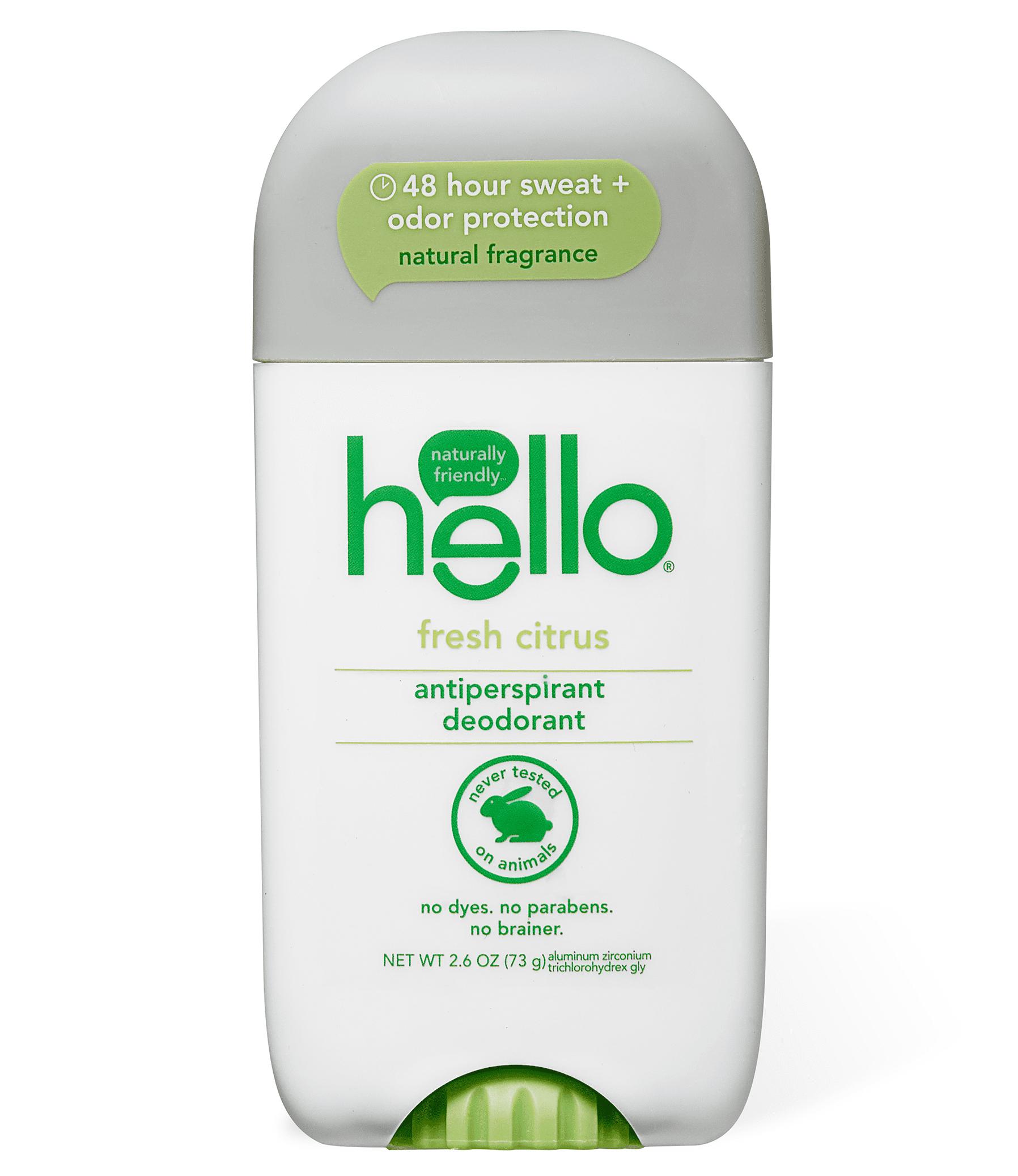 hello fresh citrus antiperspirant deodorant