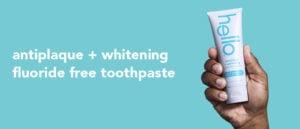 antiplaque and whitening fluoride free toothpaste